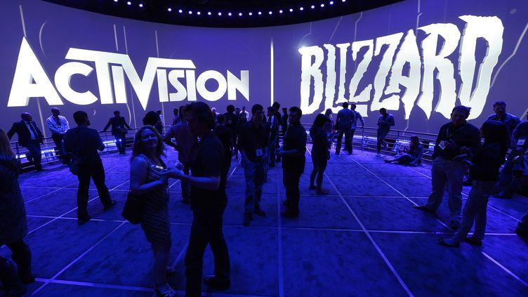 Le stand Activision Blizzard au salon de l'E3, à Los Angeles, le 12 juin 2013. (MAXPPP)
