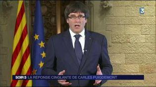 Carles Puigdemont, leader des séparatistes catalans. (FRANCE 3)