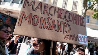 Une marche contre Monsanto à Marseille, le 20 mai 2017. (CITIZENSIDE / AFP)