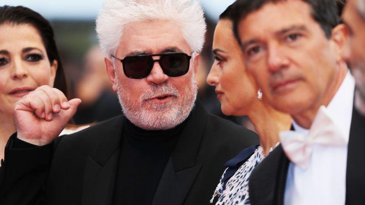 """Le cinéaste espagnol Pedro Almodovar présente son nouveau film """"Douleur et gloire"""". C'est la septième fois qu'il participe au festival de Cannes. (VALERY HACHE / AFP)"""
