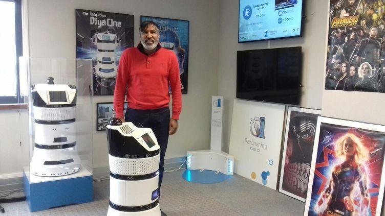 Ramesh Caussy, le patron dePartnering Robotics. (RADIO FRANCE)