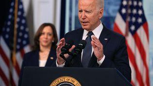 Le président des Etats-Unis, Joe Biden, le 15 juillet 2021 à Washington. (CHIP SOMODEVILLA / GETTY IMAGES NORTH AMERICA / AFP)