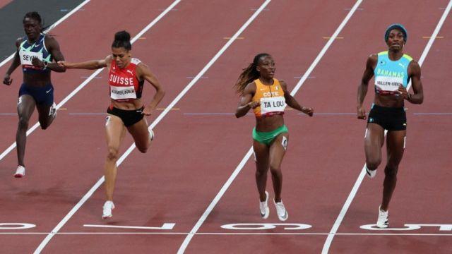L'Ivoirienne réalise sa meilleure performance de la saison sur 200 m en 22.11 secondes devant Shaunae Miller et Mujinga Kambuji.