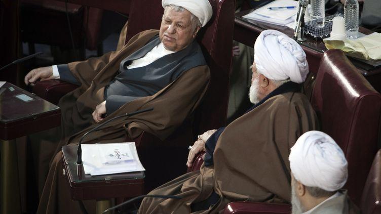L'ancien président AkbarHachemi Rafsandjani, à Téhéran (Iran), le 6 mars 2012. (RAHEB HOMAVANDI / REUTERS)