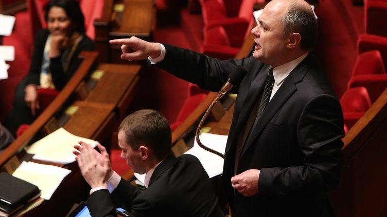 Bruno Le Roux, patron des députés PS,lors de l'examen du projet de loi ouvrant le mariage aux couples de meme sexe, le 3 février 2013. ( MAXPPP)