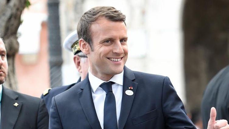 Le président français Emmanuel Macron, le 27 mai 2017 au sommet du G7 à Taormina (Italie). (STEPHANE DE SAKUTIN / AFP)