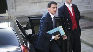 Manuel Valls arrive à l'Elysée, le 12 mars 2016. (MAXPPP)