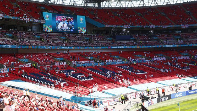 Le stade deWembley lors dumatch de l'Euroentre l'Angleterre et la Croatie (groupe D), à Londres, le 13 juin 2021. (ACTION FOTO SPORT / AFP)