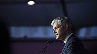 Laurent Wauquiez, le 16 mars 2019, à Lyon, lors du conseil national des Républicains. (ROMAIN LAFABREGUE / AFP)