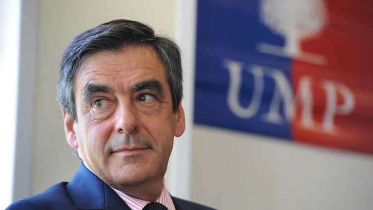 François Fillon, candidat à la présidence de l'UMP, en meeting à Fleury-les-Aubrais (Loiret), le 9 juillet 2012. (ALAIN JOCARD / AFP)