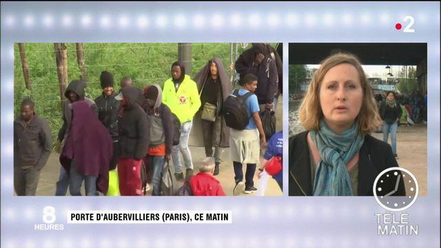 Paris : un camp de migrants évacué