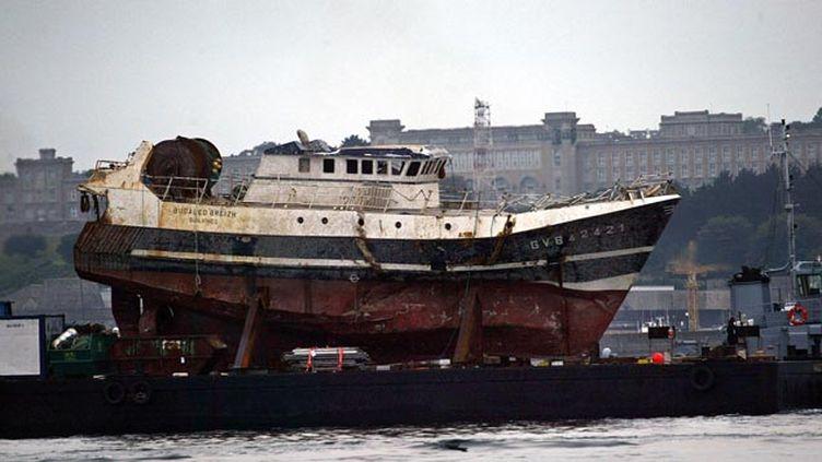 (Cinq marins sont morts dans le naufrage du Bugaled Breizh le 15 janvier 2004 © Reuters)
