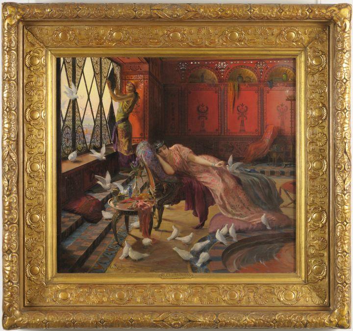 """Georges-Antoine Rochegrosse,""""Salammbô et les colombes"""", 1895 (FRANÇOIS LAUGINIE)"""