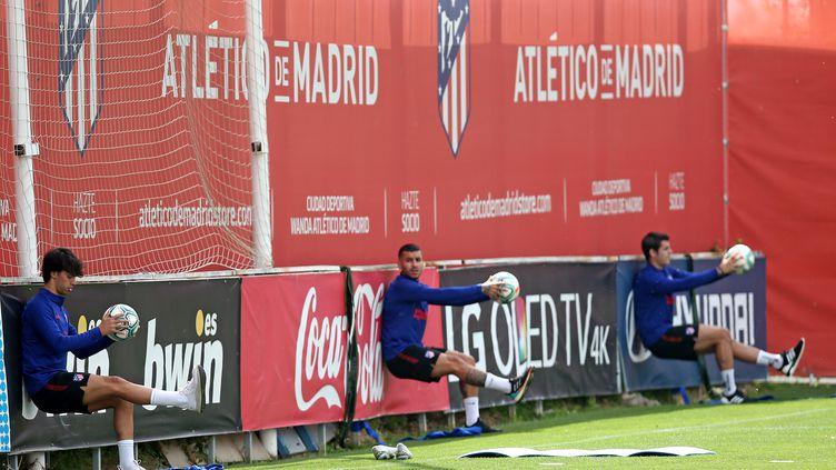 Les joueurs de l'Atlético Madrid de retour à l'entraînement après le déconfinement (HANDOUT / ATLETICO MADRID)