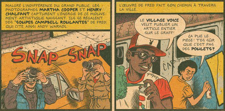 """Fab Five Freddy et Lee Quinones dans """"Hip Hop Family Tree"""" (Tome 1)  (Ed Piskor)"""