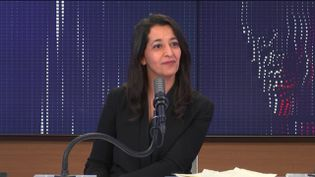 Karima Delli, députée européenne et tête de liste pour les élections régionales dans les Hauts-de-France, le dimanche 28 mars 2021 sur franceinfo. (FRANCEINFO / RADIOFRANCE)