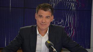 Olivier Faure, député PS de Seine-et-Marne, président du groupe Nouvelle Gauche à l'Assemblée nationale. (RADIO FRANCE / JEAN-CHRISTOPHE BOURDILLAT)