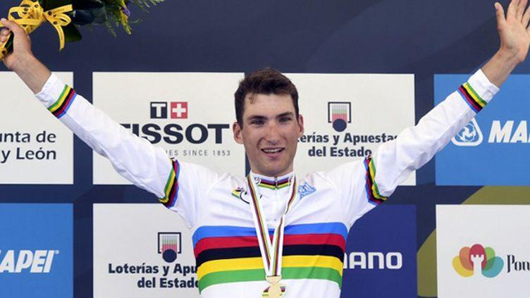 Sven Erik Bystrom champion du monde espoirs à Ponferrada (JAVIER SORIANO / AFP)