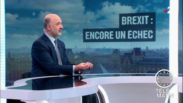 """Brexit : """"le risque d'un 'no deal' augmente fortement"""", juge Pierre Moscovici"""