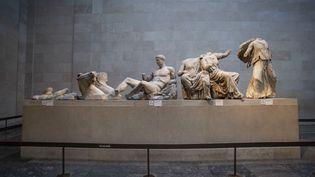 Sculptures du Parthénon exposées au sein duBritish Museum. (NICOLAS ECONOMOU / NURPHOTO)