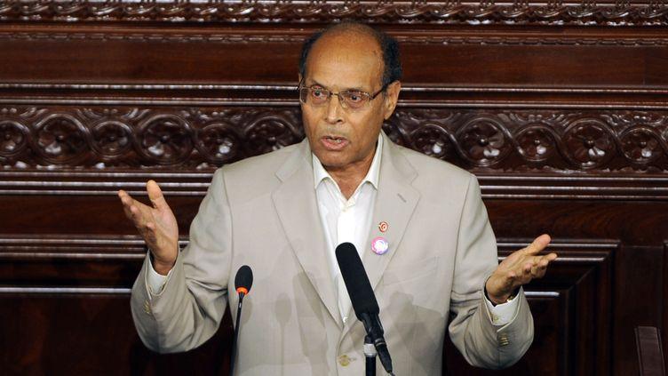 Moncef Marzouki, le 25 juillet 2012 à Tunis. (FETHI BELAID / AFP)