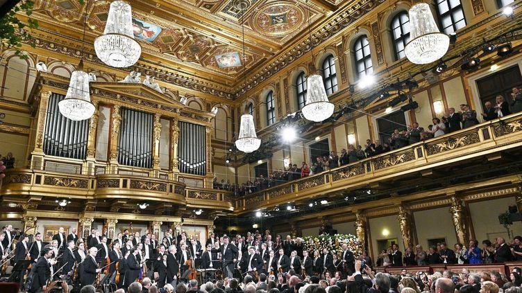 La grande salle du Musikverein de Vienne le 30 décembre 2018 pendant les répétitions.  (HANS PUNZ / APA / AFP)