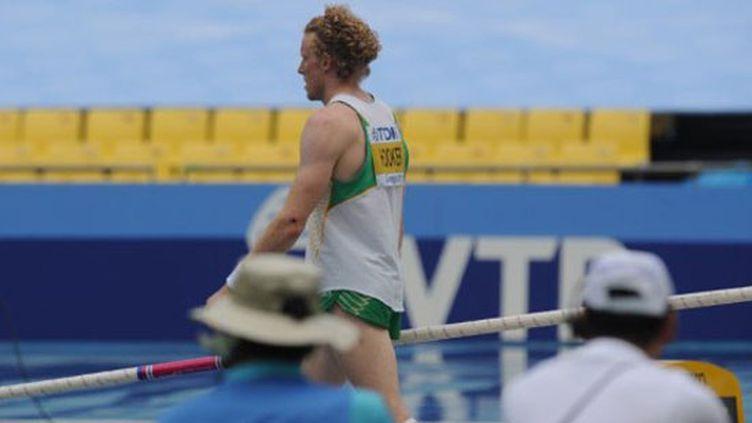 Grosse déception pour l'Australien Steve Hooker incapable de passer une barre lors des qualifs de la perche