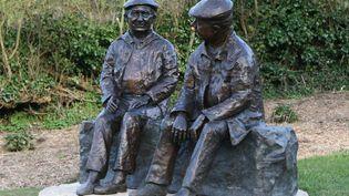 La statue de la discorde représentant Jacques Prévert et Alexandre Trauner  (PHOTOPQR/OUEST FRANCE/MAXPPP)