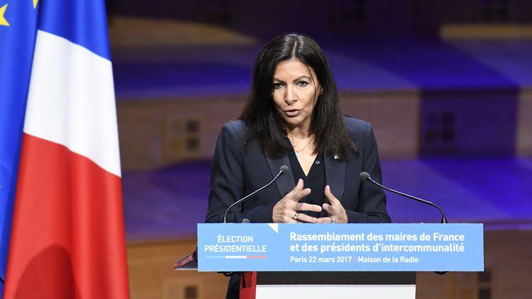 Anne Hidalgo, maire de Paris, le 22 mars 2017, à Paris. (Photo d'illustration) (BERTRAND GUAY / AFP)