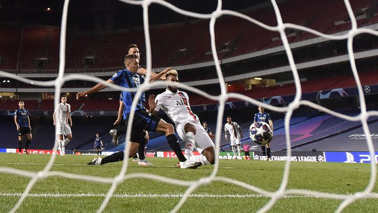 Le but d'Eric Maxim Choupo-Moting à la 93e minute a qualifié sur le fil le PSG pour le dernier carré de la Ligue des Champions. (DAVID RAMOS / POOL / GETTY POOL)