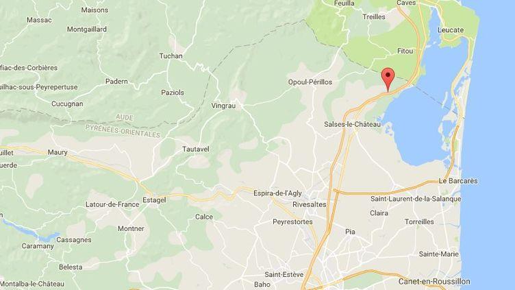 Un plongeur-sauveteur est mort au cours d'une opération de recherche,au gouffre de Font-Estramar, lundi 9 juillet 2018. (GOOGLE MAPS)