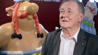 Albert Uderzo à Paris le 2 octobre 2013, à l'occasion de la sortie de l'album Asterix chez les Pictes. (BERTRAND GUAY / AFP)