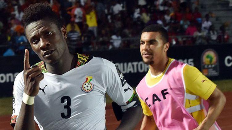 Asamaoh Gyan après son but salvateur face à l'Algérie (CARL DE SOUZA / AFP)