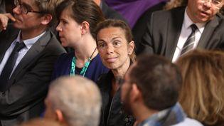 Agnès Saal, ancienne présidente de l'INA, lors d'une conférence de presse du gouvernement, le 22 mai 2018 à Paris. (LUDOVIC MARIN / AFP)