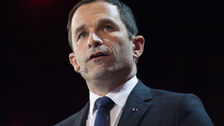 Benoît Hamon, le 19 mars 2017, à Paris. (GEOFFREY FROMENT / AFP)