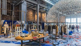 1.300 m² au sommet du bâtiment mode femmes du Printemps Haussmann à Paris dédiés à la mode circulaire, au vintage et à la seconde main. (ROMAIN RICARD)