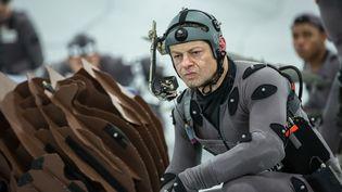 """L'acteur Andy Serkis sur le tournage de """"La planète des singes : l'affrontement"""" en 2014 (20TH CENTURY FOX / ARCHIVES DU 7EME ART / AFP)"""