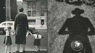 Vivian Maier, à gauche, Sans titre, 1954, à droite, Autoportrait, sans date  (Vivian Maier / Maloof Collection, Courtesy Howard Greenberg Gallery, New York)