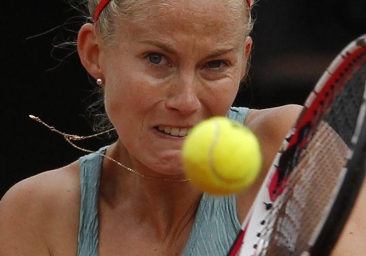 Mathilde Johansson est la Française qui est allé le plus loin à Roland-Garros (ici le 1er juin 2012). (BENOIT TESSIER / REUTERS)