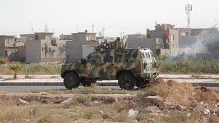 Des forces de sécurité irakiennes à Kirkouk (Irak), le 22 octobre 2016. (YUNUS KELES / ANADOLU AGENCY / AFP)