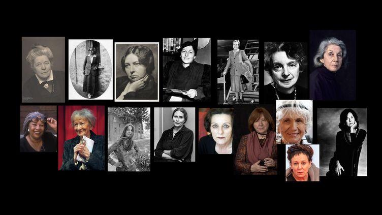 Les 16 femmes couronnéespar le prix Nobel de littérature depuis 1901 (FRANCEINFO)