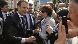 Le président Emmanuel Macron à Saint-Dié-des-Vosges, le 18 avril 2018. (VINCENT KESSLER / POOL)