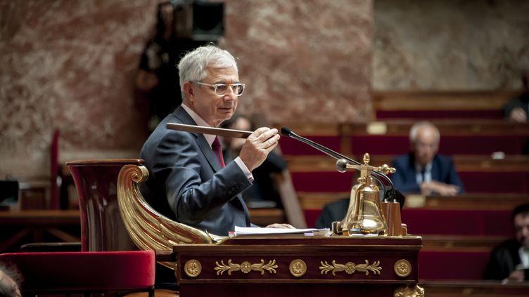 """Claude Bartolone au """"perchoir"""" de l'Assemblée nationale le 10 juin 2015 (CITIZENSIDE/ YANN KORBI / AFP)"""