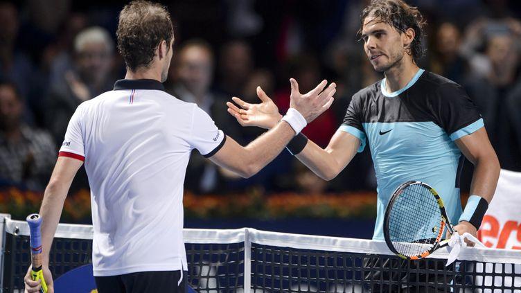 Richard Gasquet et Rafaël Nadal (FABRICE COFFRINI / AFP)