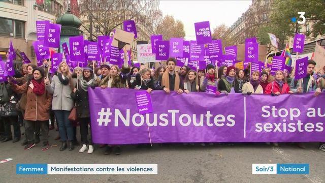 Femmes : manifestations contre les violences