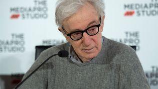Le réalisateur Woody Allen, lors d'une conférence de presse le 9 juillet 2019 à San Sebastian (Espagne). (ANDER GILLENEA / AFP)