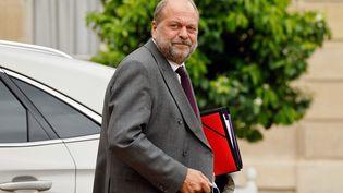 Le ministre de la Justice,Eric Dupond-Moretti, à l'Elysée, à Paris, le 30 juin 2021. (LUDOVIC MARIN / AFP)