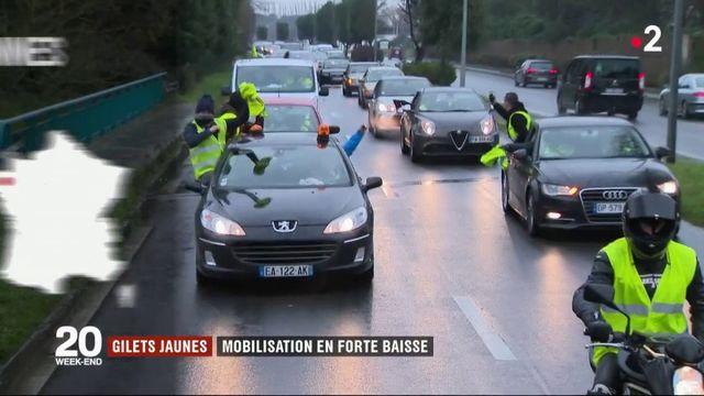 """""""Gilets jaunes"""" : mobilisation en forte baisse partout en France"""