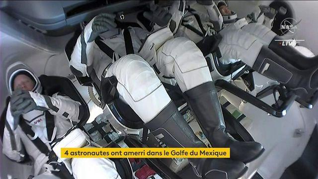 Espace : quatre astronautes sont de retour sur Terre