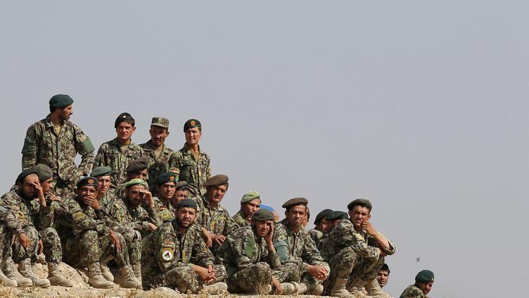Les talibans infiltrés dans l'armée afghane sont responsables de 25% des attaques de soldats afghans contre l'Otan. (ALEXANDER KLEIN / AFP)